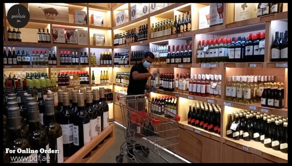 Peninsula Alcohol Online Store and Delivery in Abu Dhabi - selecting the order