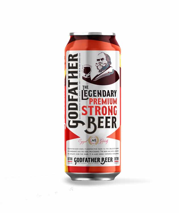 Godfather Strong Beer 8% 50cl Can